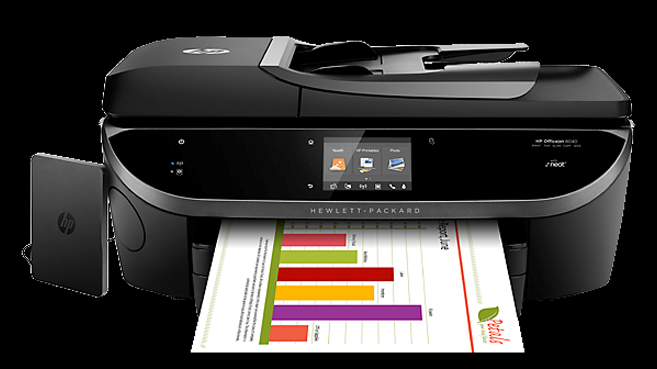 HP Officejet 8040 with Neat e-All-in-One Printer FRONTAL